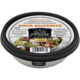 SAL FOSSIL Pétalos de sal impregnados con aceto balsámico Tarrina 75 g