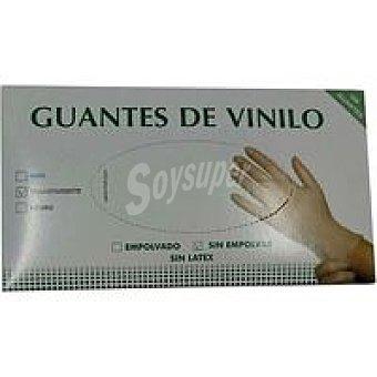 Silver Sanz Guante de vinilo de un solo uso Talla L Caja 100 uds