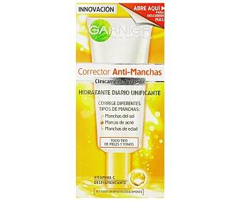 Skin Naturals Garnier Crema Corrector Anti-Manchas hidratante diario unificante para todo tipo de pieles Tubo 50 ml
