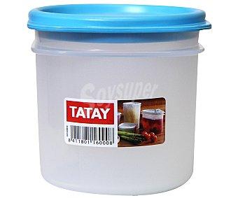 TATAY Tupper cilíndrico de plástico, apto para lavavajillas y microondas, 0,3 litros 1 Unidad