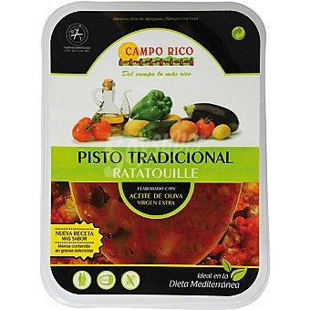 Campo Rico Pisto tradicional con aceite de oliva virgen extra bandeja 380 g Bandeja 380 g