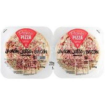 Pronto Pizza Pizza de jamón-bacón-queso Pack 2x225 g