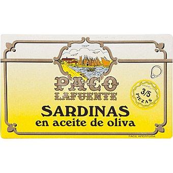 PACO LAFUENTE Sardinas en aceite de oliva 3-5 piezas Lata 87 g neto escurrido