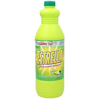 Estrella Lejía con detergente limón Botella 1,5 litros
