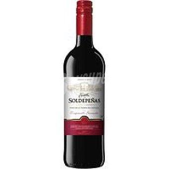 SOLDEPEÑAS Vino Tinto Joven Valdepeñas castillo Botella 75 cl