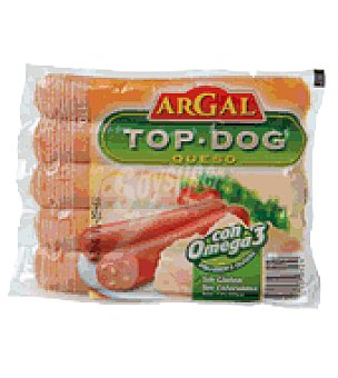 Argal Salchichas top dog con queso 850 g