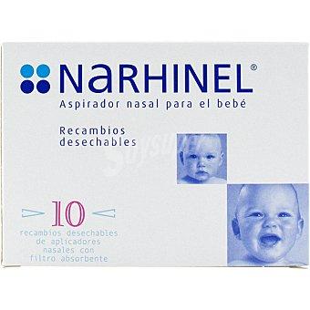 Narhinel Baby Narhinel Confort recambios blandos desechables con filtro absorbente caja 8 unidades Caja 8 unidades