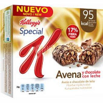 Kellogg's Special K Avena y Chocolate con leche Pack de 4x24 g