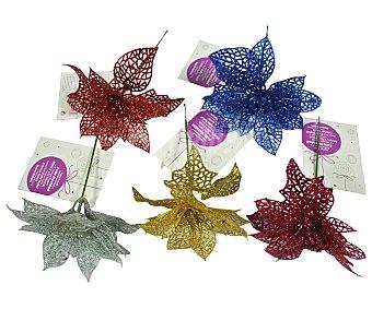 Actuel Flor decorativa en diferentes colores con acabado metálico ACTUEL. Este producto dispone de distintos modelos o colores. Se venden por separado SE SURTIRÁN SEGÚN EXISTENCIAS