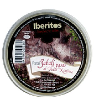 Iberitos Paté Jabalí con pasas al Pedro Ximénez selección 140 g