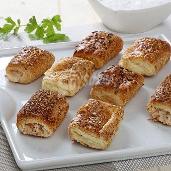Carrefour Chics jamón y queso, atún y sobrasada Bandeja de 20 ud