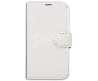 Auchan Funda con tapa para Samsung Galaxy S5 Folio, blanco