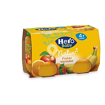 Alimento infantil fruta frutas variadas