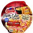 Pizza Jamón y Queso con Salsa Cheddar Envase 360 g Campofrío