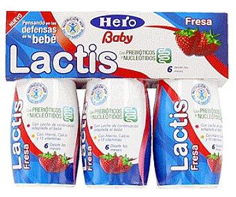 Hero Baby Leche de Continuación sin Gluten de Fresa Lactis