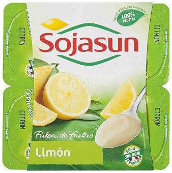 Sojasun Especialidad fresca de soja con pulpa de limón 4 unidades de 100 g