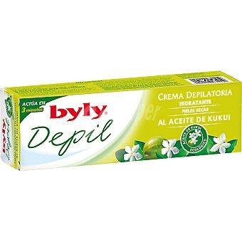 BYLY DEPIL Crema depilatoria hidratante al aceite kukui tubo 100 ml Tubo 100 ml