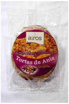 Airos Tortas de anís sin gluten Envase 210 g