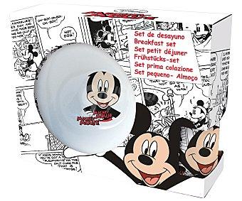 Disney Set de merienda con diseños cómic de Mickey Mouse, fabricado en cerámica 1 Unidad