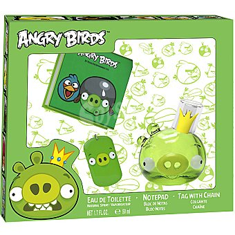 ANGRY BIRDS Pig eau de toilette natural infantil spray 50 ml + bloc de... Spray 50 ml