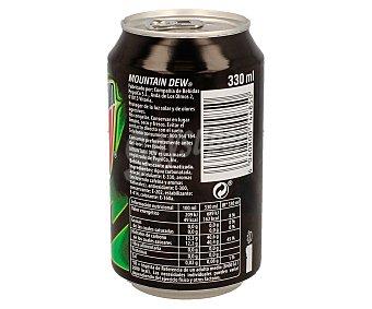 MOUNTAIN DEW Bebida refrescante con sabor a lima lata de 33 cl