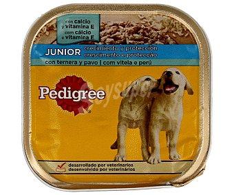 Pedigree Comida húmeda para perros junior ternera y pavo 300 gr