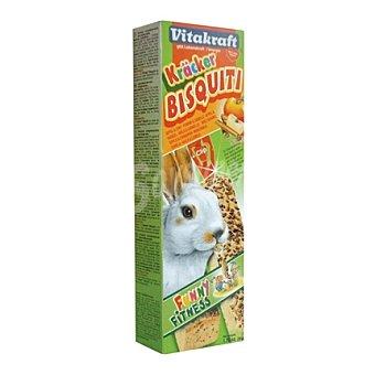 Kräcker Vitakraft Bizcochos conejos enanos manzana Pack 2 x 50 gr