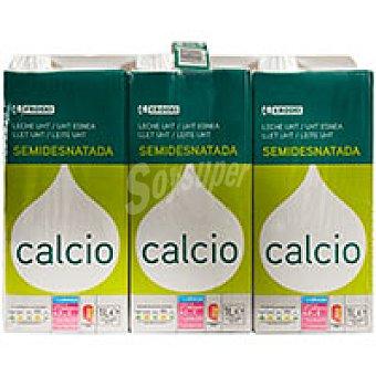 Eroski Leche Semidesnatada Calcio Pack 6x1 litro