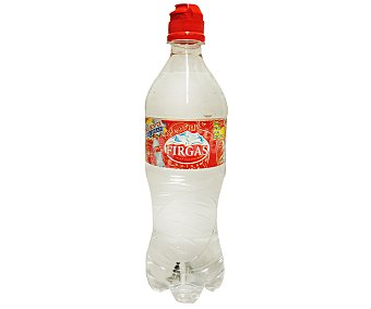 Firgas Agua mineral natural con gas tapón sport Botella 62 cl