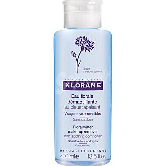Klorane Agua floral de Aciano desmaquillante calmante para los ojos sensibles Frasco 400 ml