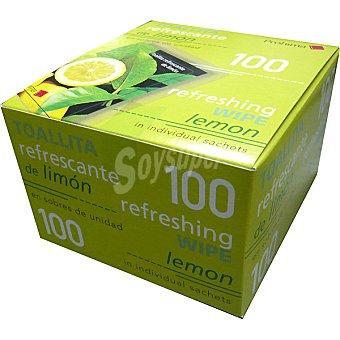 WIPE Toallitas refrescantes limón caja 100 unidades