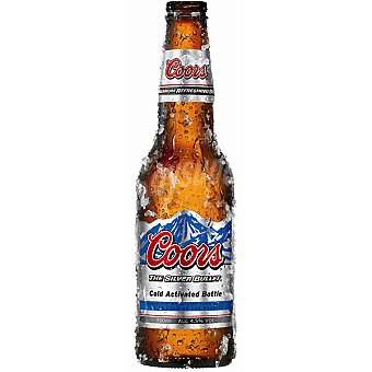 Coors Cerveza rubia americana Botella 33 cl