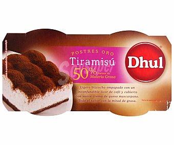 Dhul Tiramisú 50% m.g Pack 2 unds. 80 g