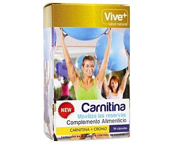 Viveplus Complemento alimenticio a base de carnitina (ayuda a quemar grasas) 30 cápsulas 15 gramos