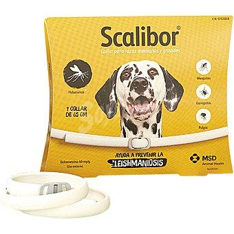 SCALIBOR Collar antiparasitario para perros talla grande medida 65 cm 1 unidad 1 unidad