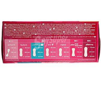 Carefree Protege slips regular con extracto de algodón Caja 76 unidades