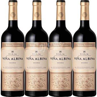 Viña Albina Vino tinto reserva D.O. Rioja Caja de 4 botellas 75 cl 4 botellas 75 cl