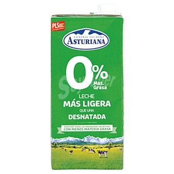 Central Lechera Asturiana leche 0% mg  brik 1 lt