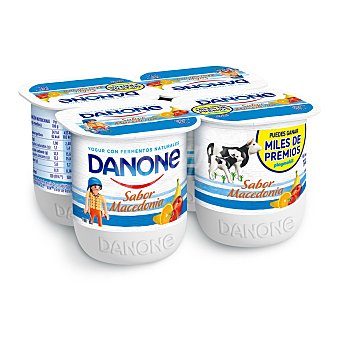 Danone Yogur sabor macedonia pack 4 x 125 g