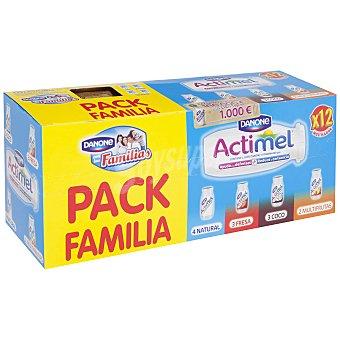 Actimel Danone Yogur líquido caja multisabores caja Pack de 12x100 g