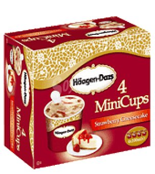 Häagen-Dazs Helado strawberry cheescake minicup Pack de 4x100 ml