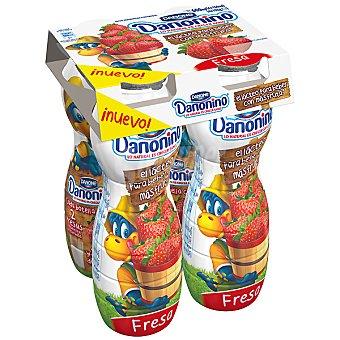 Danonino Danone Yogur líquido sabor fresa Pack 4 unidades 155 g