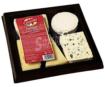 Cantorel Tabla surtida de 5 quesos franceses, 400 gramos 400g