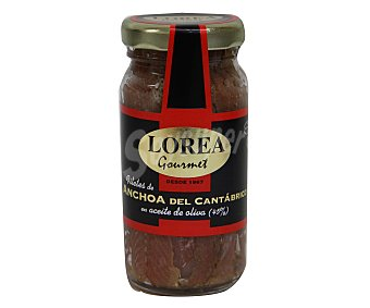 Lorea Filetes de anchoas del cantábrico en aceite de oliva 55 gramos peso escurrido
