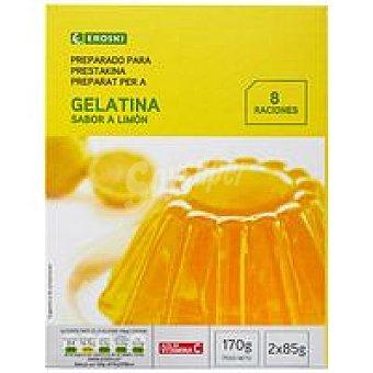 Eroski Gelatina de limón Caja 170 g