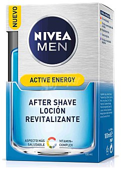 Nivea For Men After shave loción splash refresca y calma la piel Skin Energy Frasco 100 ml
