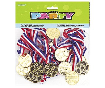 Party Relleno para piñatas, medallas 24 unidades