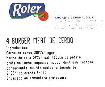 Roler Burger meat de cerdo Bandeja de 4 unidades