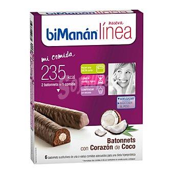 Bimanan Barritas de Chocolate con Corazón de Coco Dietéticas 225 g