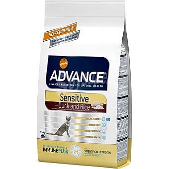 Advance Affinity Alimento de alta gama para gatos con sensibilidad digestiva rico en pato y arroz Sensitive Bolsa 1,5 kg